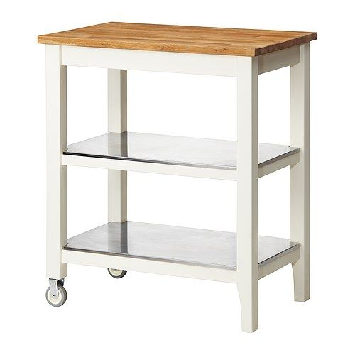 IKEA - STENSTORP, Kitchen trolley, Gives you extra storage, utility and work space.2 fixed shelves in stainless steel, a hygienic, strong and durable material that