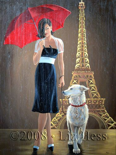 Love the Red Umbrella series. Dog Walk Couture by Liz Hess.