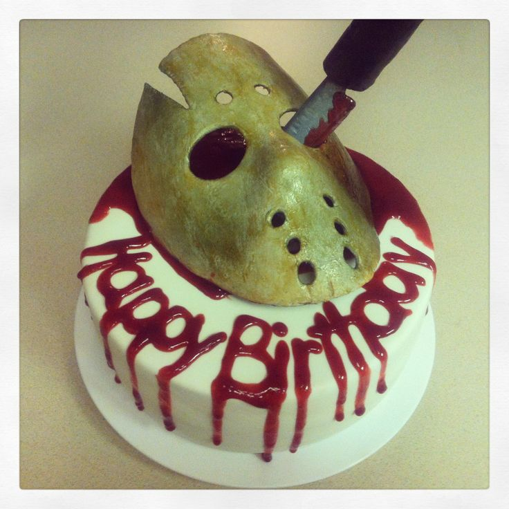Friday the 13th cake. Happy Birthday to me!