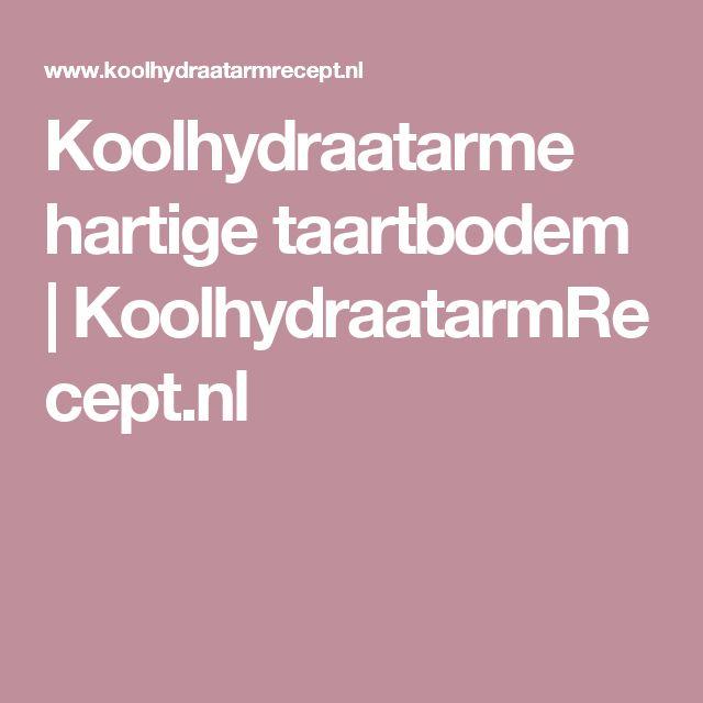 Koolhydraatarme hartige taartbodem   KoolhydraatarmRecept.nl