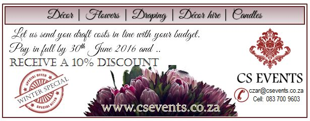 Winter Special - June 2016 Contact our offices:  South Africa, Gauteng: 011 708 3226