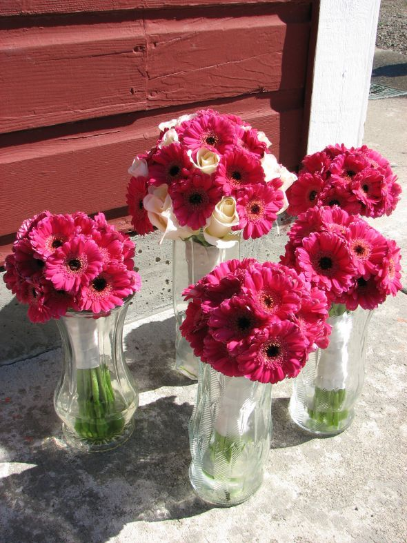 wedding Magenta Wedding Bouquets