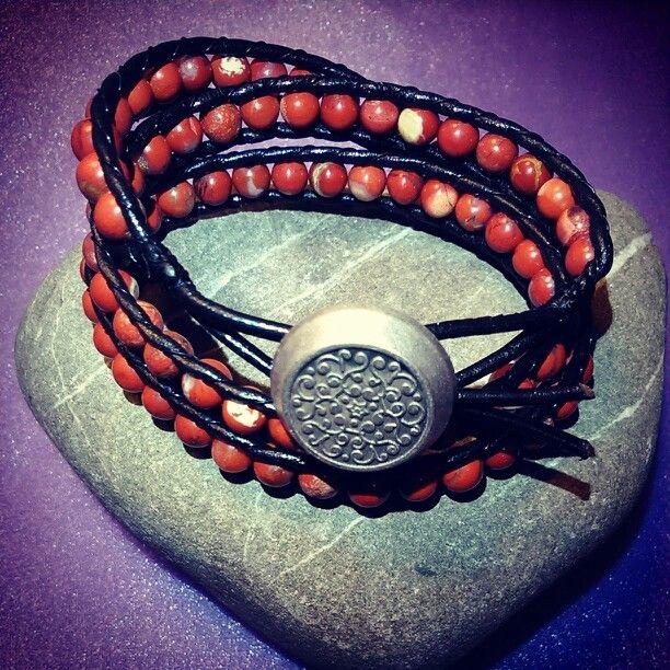 SemiPrecious Bracelet- RED RIVER JASPER/Triple