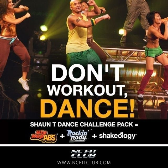 Don't workout, DANCE! Shaun T Dance Challenge Pack = Hip Hops Abs + Rockin' Body + Shakeology http://ncfit.club/CP-Dance   #body #fitness #pushplay #beachbody #insanity #shaunt #opportunity #challenge #stronger #instagood  #danceparty