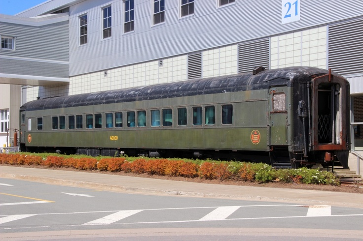 Old passenger rail car outside of Pier 21 in Halifax, Canada's immigration center! This and much more over at http://www.youtube.com/watch?v=Lmu2FMWJDZM