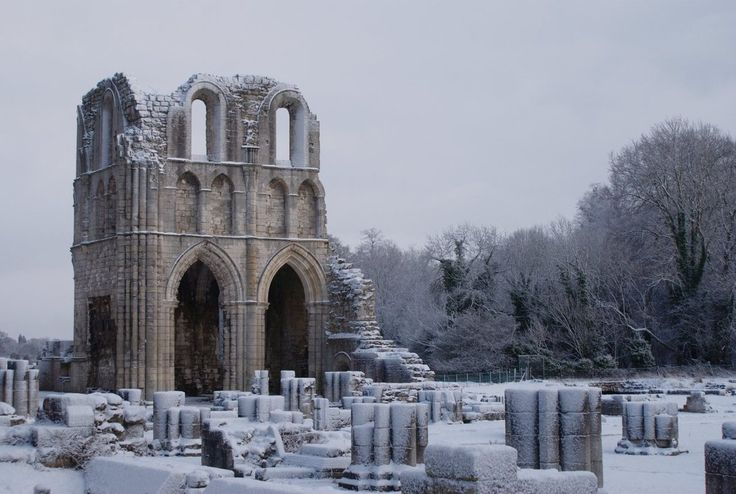 roche abbey, maltby, south yorkshire, england