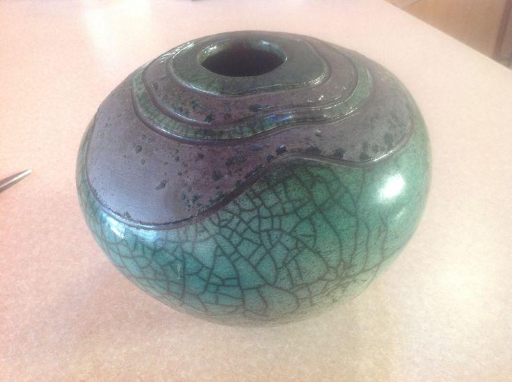 Large Raku pot