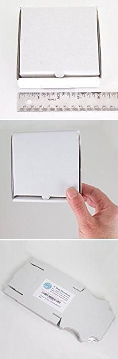 "Cake Shipping Boxes. 4"" White Mini Pizza Boxes (Pack of 8) - Chica and Jo Brand - Square Cardboard Boxes 4 inch - Includes 4""x6"" plastic treat bags.  #cake #shipping #boxes #cakeshipping #shippingboxes"