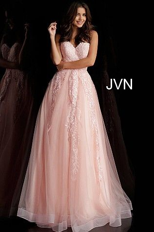 5c51f31487b Blush Embroidered Strapless Prom Ballgown JVN66970 Available at Blush Bridal    Prom-Concord