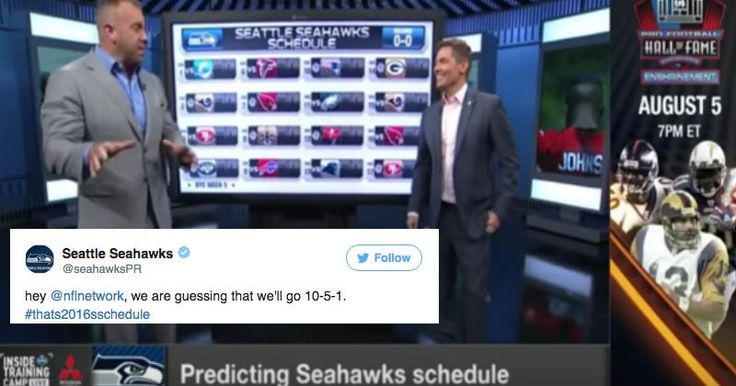 NFL Network Spends Whole Segment Predicting Wrong Seahawks Schedule Gets Rightfully Roasted on Twitter
