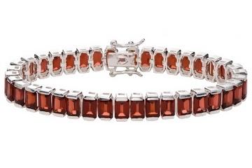 RED: Red Gems, Gems Bracelets, Silver Bracelets, Color Gemstones, Charms Bracelets, Bangles Bracelets, Garnet Sterling, Sterling Bracelets, I'M