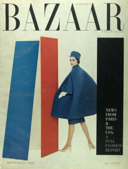 Harper's Bazaar, 1958. Art direction by Alexey Brodovitch