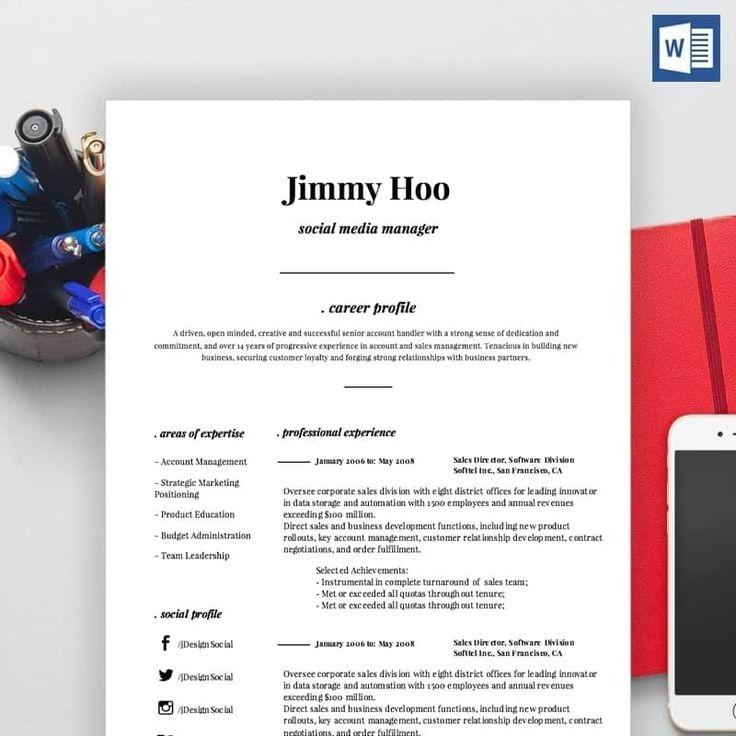 Inspiring Cv Resume Template Pdf Collection social media