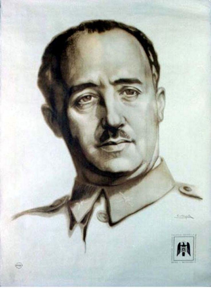 Spain - 1936. - GC - poster - Nationalist faction Francisco Franco