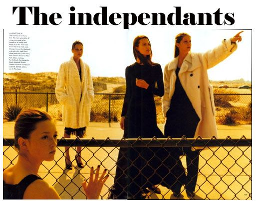 Audrey Marnay, Natalia Semanova, Shalom Harlow and Gisele Bundchen by Steven Meisel