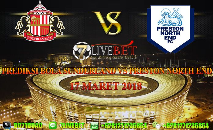 Prediksi Bola Sunderland vs Preston North End 17 Maret 2018. Prediksi Skor Sunderland vs Preston North End 17 Maret 2018. Prediksi Akurat Sunderland vs Preston North End 17 Maret 2018. Hasil Skor Sunderland vs Preston North End 17 Maret 2018.