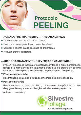 Dermatologia protocolo peeling