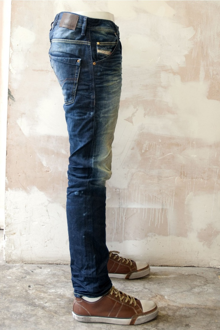 Men's Denim Skinny Jeans.  Who'da thunk it would look right on me?