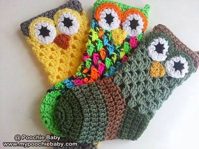 Crochet Pattern for Owl Christmas Stocking