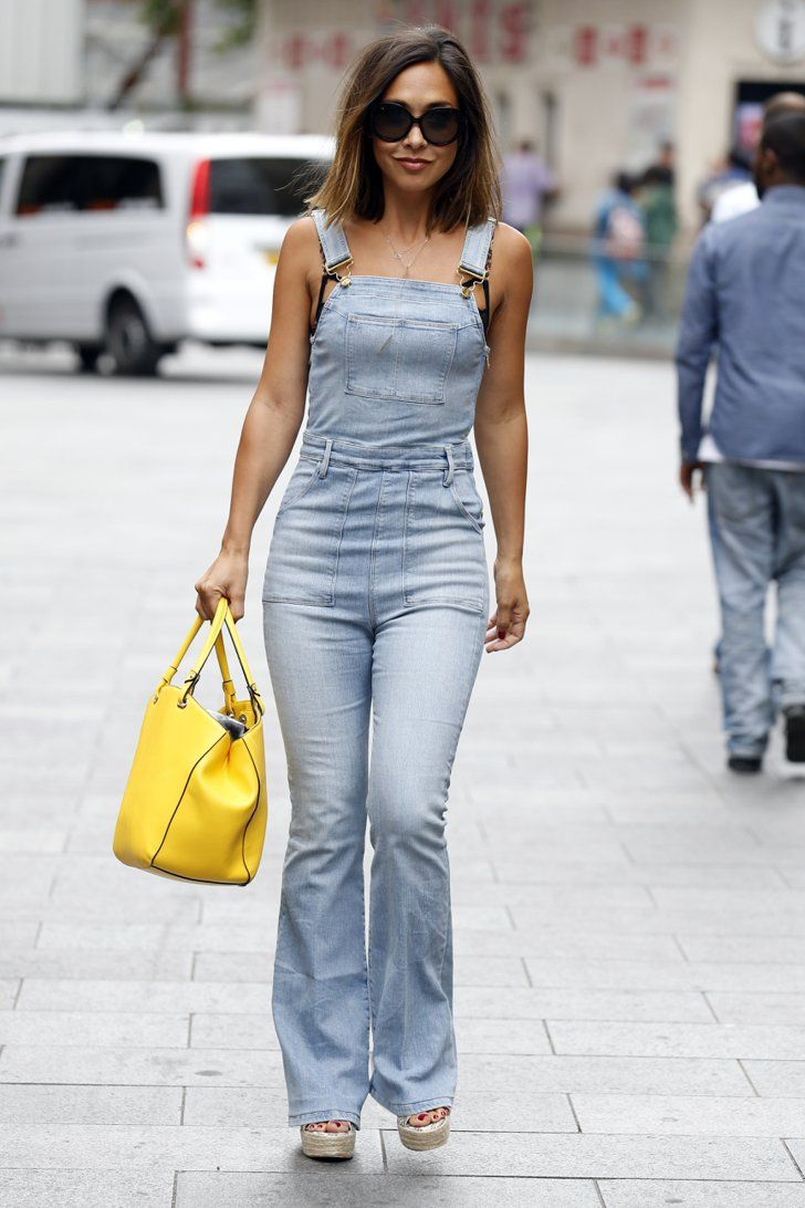 Pin for Later: These Stars Prove That Dungarees Aren't Just For Kids '70s Flares: Myleene Klass