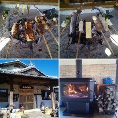 お昼は高森田楽村さんで初めて高森田楽をいただきました 高森町に行くのは3回目ですが高森田楽は初めてでこんちゃく鶴の子いも里芋っぽい豆腐などに自家製の味噌を塗って囲炉裏で焼いて食べます ヤマメの塩焼きもとてもおいしかったです 高森町に行った際は高森田楽村さんがオススメです   #高森町 #郷土料理 #阿蘇 #熊本 #グルメtags[熊本県]