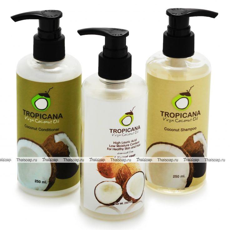 Набор «Здоровые волосы» Tropicana  Кокосовый шампунь Tropicana Кокосовый кондиционер для волос Tropicana 100% кокосовое масло нерафинированное, 250 мл., с дозатором  Состав шампуня: Aqua, Sodium Laureth sulfate, Cocamidopropyl betaine, Laureth-3, Cocamide MEA, Glycerin, Sodium chloride, Phenoxyethanol, PEG-150 distearate,Dipropylene glycol, Benzyl alcohol, Cocos nucifera (Coconut) oil, Prunus amygdalus dulcis (sweet almond) oil Tetrasodium EDTA, Propylene glycol, Sodium benzoate…