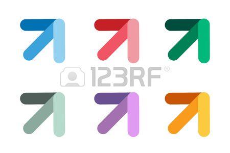 Vector arrow icon. Arrow abstract logo template. Up arrow, cursor..