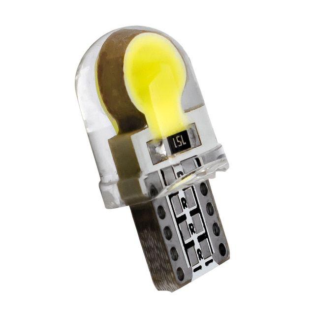 T10 W5w Wy5w 168 2825 Car Interior Dome Light Silica Gel Cob Led Bulbs Silicone Shell Auto Wedge Parking Light Turn Side Lamp Led Bulb Dome Lighting Side Lamps