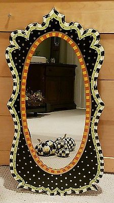 """35"""" mirror, my own HP mackenzie childs courtly whimsical check supercrazychick"""