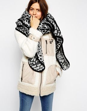 ASOS Oversized Leopard Scarf With Bound Edge