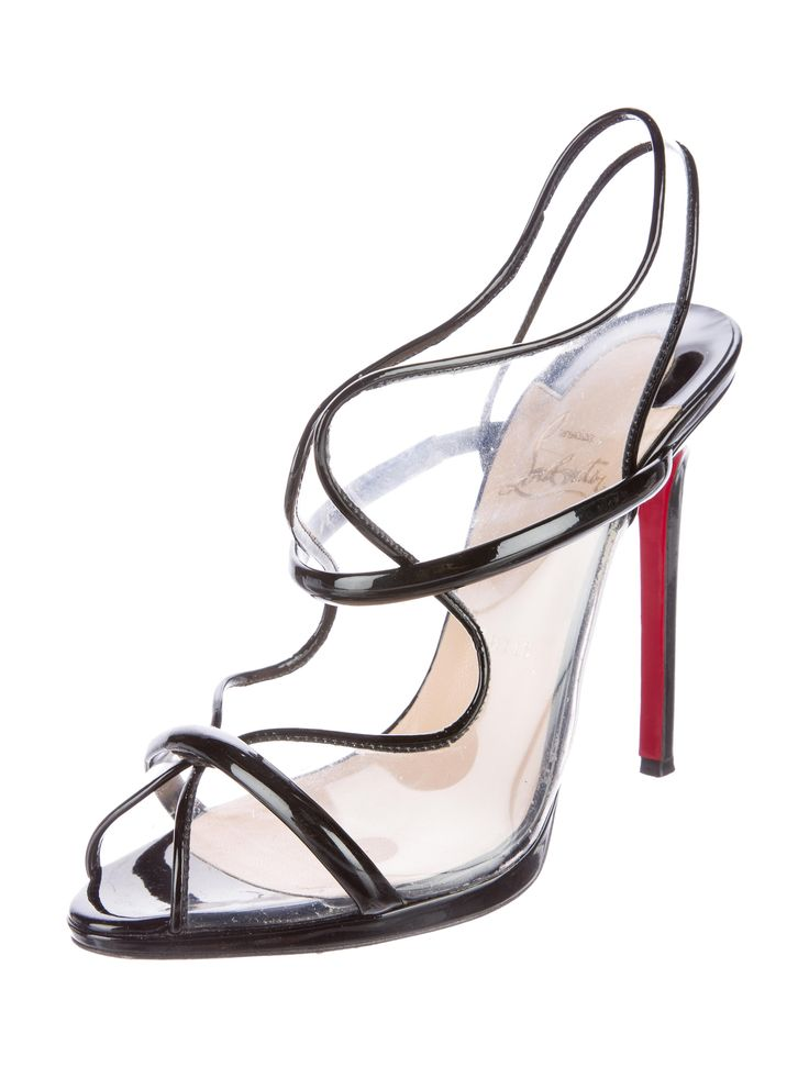 Christian Louboutin Aqua Ronda PVC Sandals - Shoes - CHT55433   The RealReal