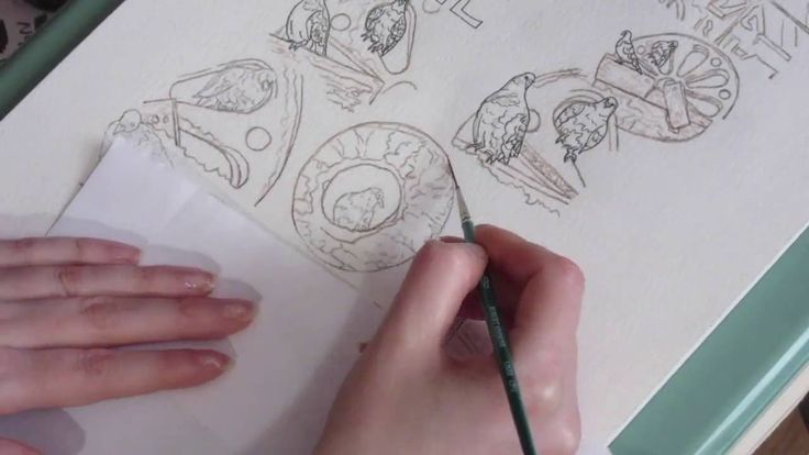 Pigeon and Stone Drawing: Part 1 Inking