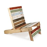 This chair is made from a pallet and is assembled with magnets.  Not sure it is comfy but it is so cool!