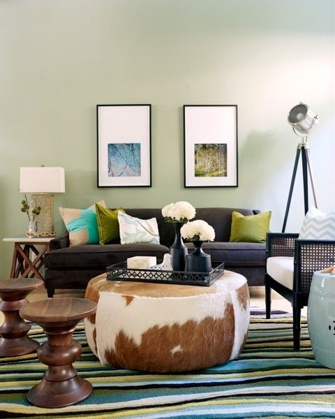 Cowhide Ottomans - Foter