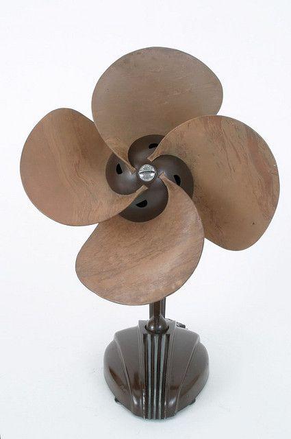 Art Deco fan, streamline design, bakelite, vintage