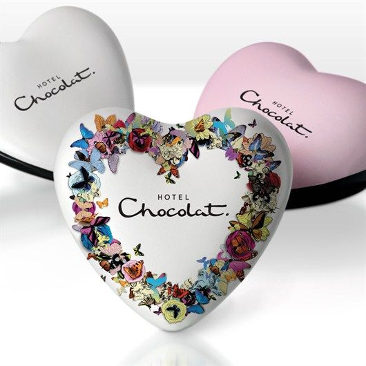Pink Champagne Truffles in Heart Shaped Gift Tin - Hotel Chocolat