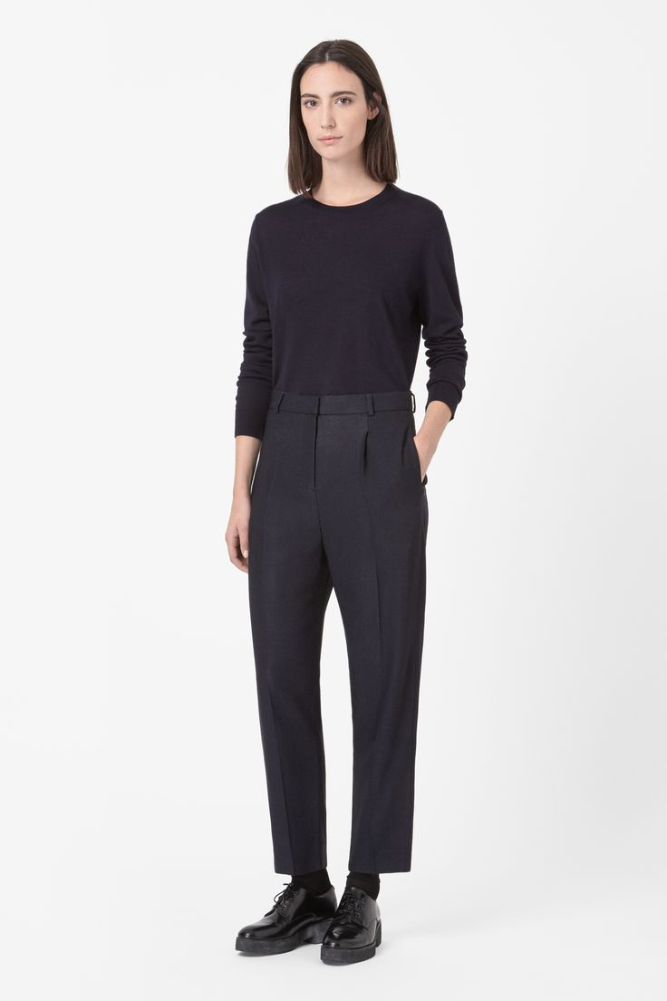 Loose textured trousers