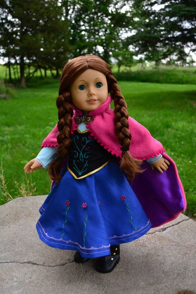 """Disney Frozen Anna Dress, Outfit, Clothes for 18"""" American Girl -Lumi -- SOLD"""