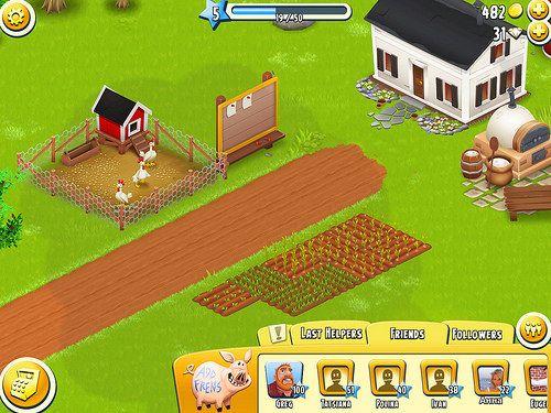 Hay Day Heads-Up Display: screenshots, UI