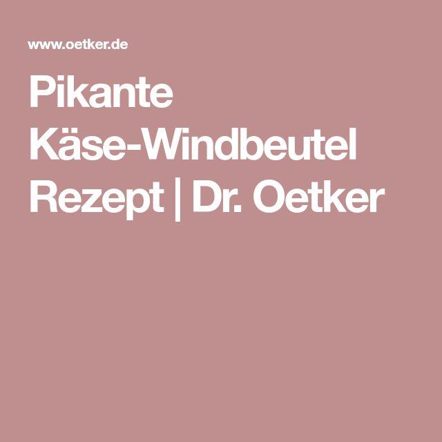 Pikante Käse-Windbeutel Rezept | Dr. Oetker