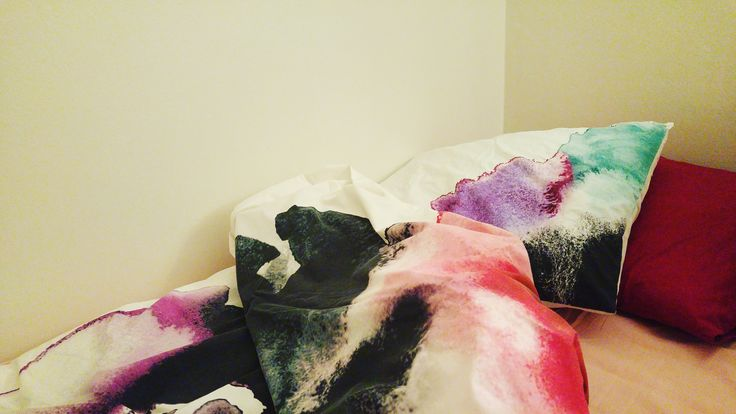 Watercolour bedding