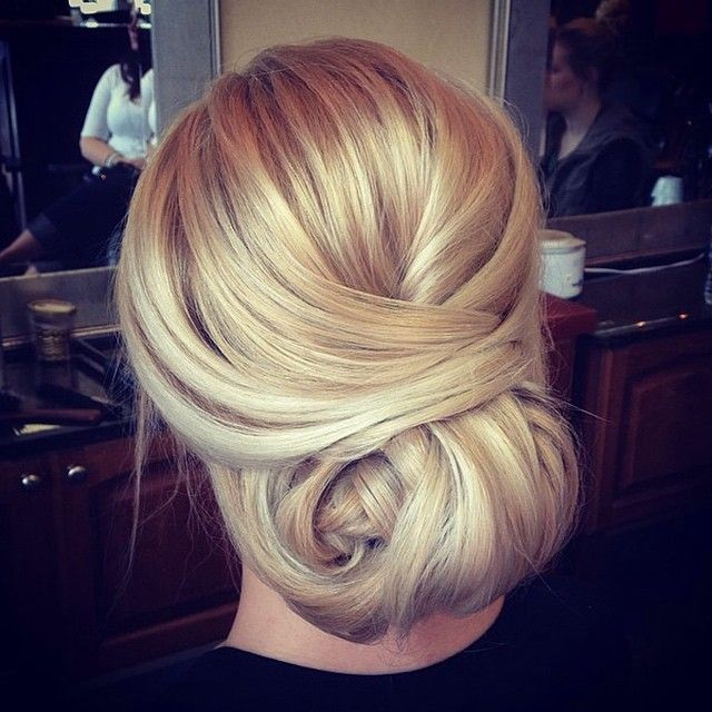 sleek updo ~  we ❤ this! moncheribridals.com #bridalupdo