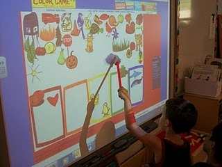 Color sorting on the SmartBoard