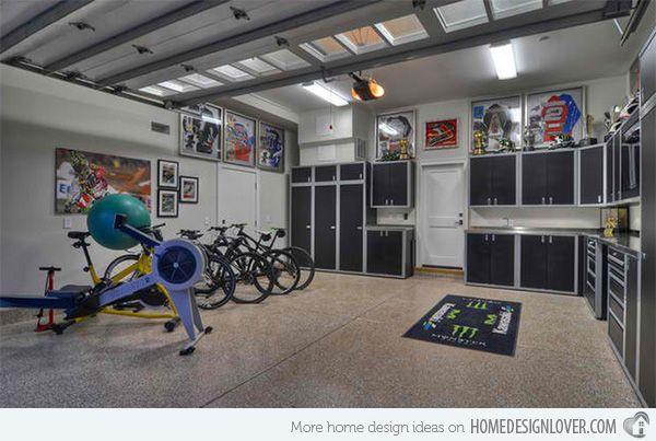 15 Ideas To Organize Your Garage Home Design Lover Garage Design Interior Contemporary Garage House Design