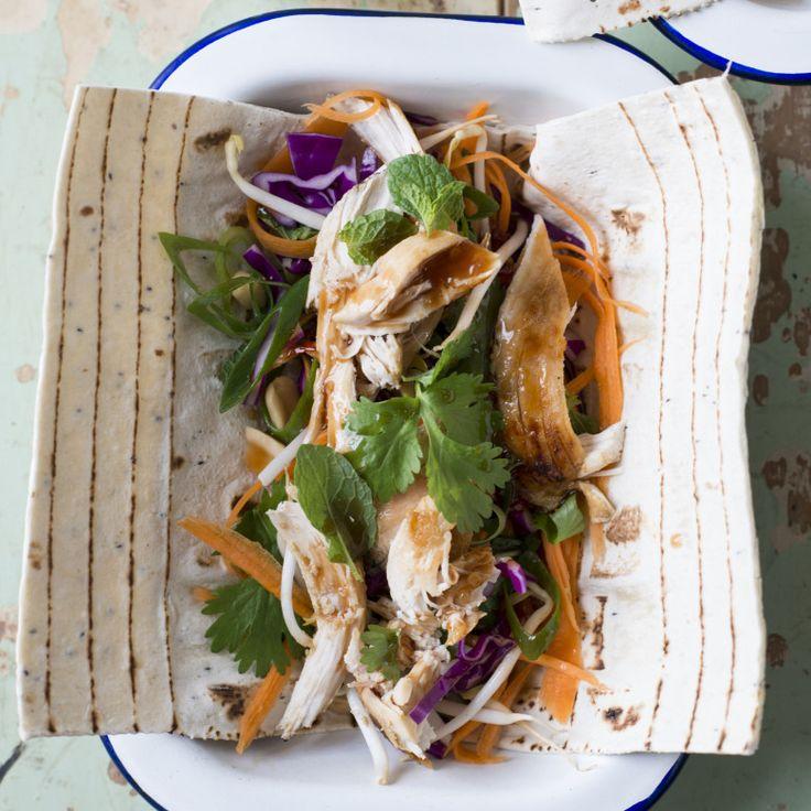Leftover turkey or chicken Asian salad