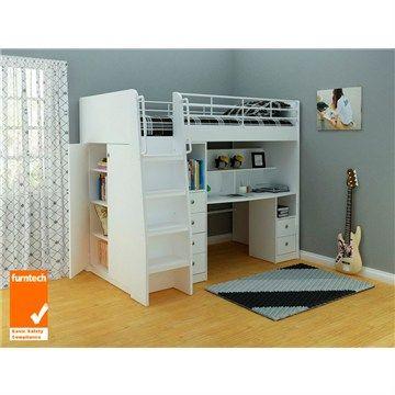 Norman Single Study Loft Bed