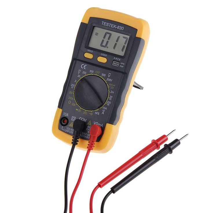 Listrik LCD Digital Multimeter Multitester AC DC Voltmeter Ohmmeter untuk sekolah, pabrik, pecinta keluarga nirkabel amatir