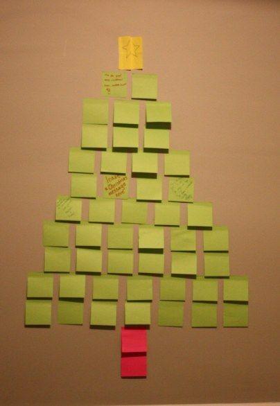 Arbol de Navidad con Post-it y deseos  (diy)                                                                                                                                                                                 Más