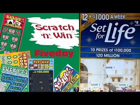 Scratch n Win Set For Life Fiveday - YouTube