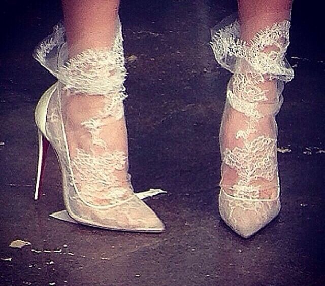 Marchesa lace socks CL shoes ❤️